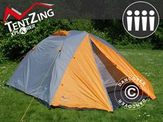 Campingtält TentZing Xplorer, 4 personer, Orange/Grå
